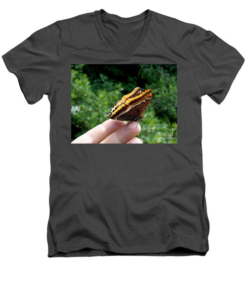 Two Tailed Pasha Men's V-Neck T-Shirt by Lainie Wrightson