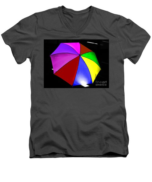 Men's V-Neck T-Shirt featuring the photograph Umbrella by Blair Stuart