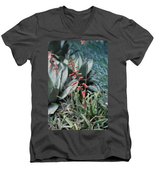 Men's V-Neck T-Shirt featuring the photograph Unique Flower by Jennifer Ancker