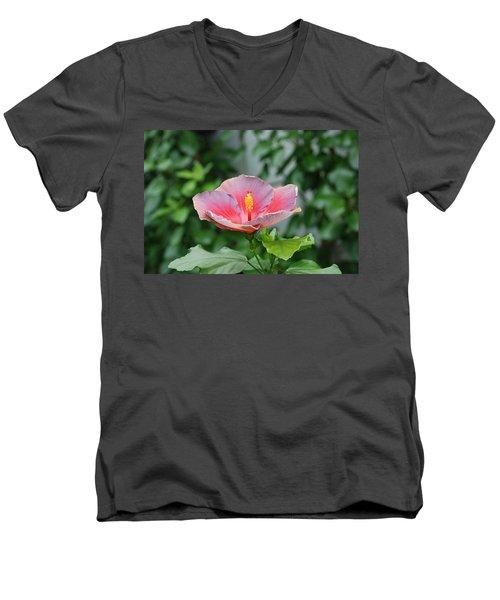Men's V-Neck T-Shirt featuring the photograph Unusual Flower by Jennifer Ancker