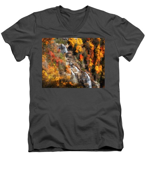 Upper Whitewater Falls Men's V-Neck T-Shirt