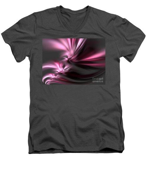 Velvet Angels Men's V-Neck T-Shirt by Kim Sy Ok