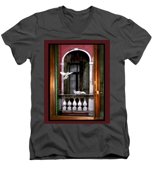 Venice Window Men's V-Neck T-Shirt by Diana Haronis
