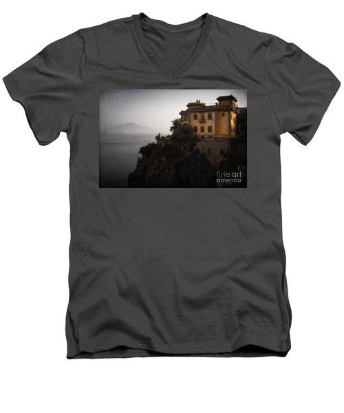 Vesuvius From Sorrento Men's V-Neck T-Shirt