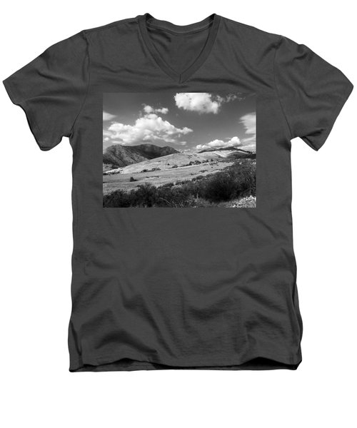 Men's V-Neck T-Shirt featuring the photograph View Into The Mountains by Kathleen Grace