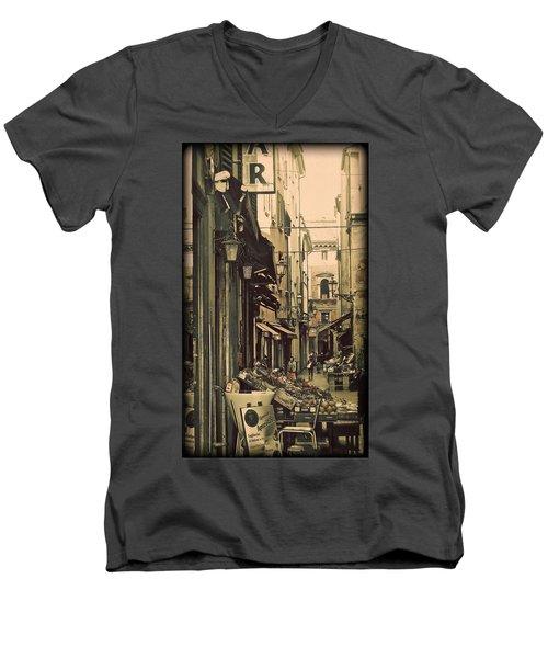 Vintage Bologna Italy Men's V-Neck T-Shirt