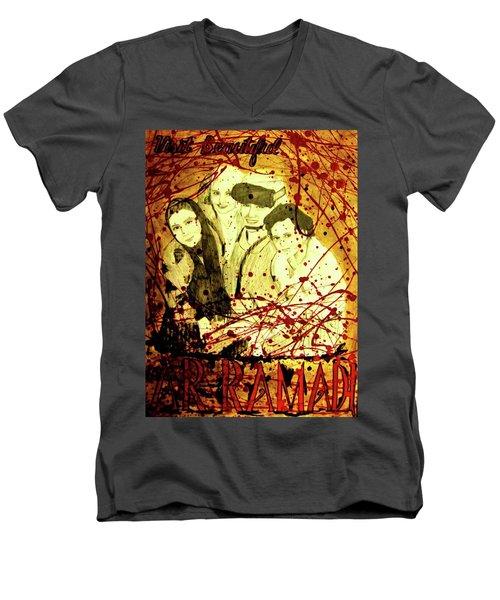 Visit Beautiful Ar Ramadi Men's V-Neck T-Shirt