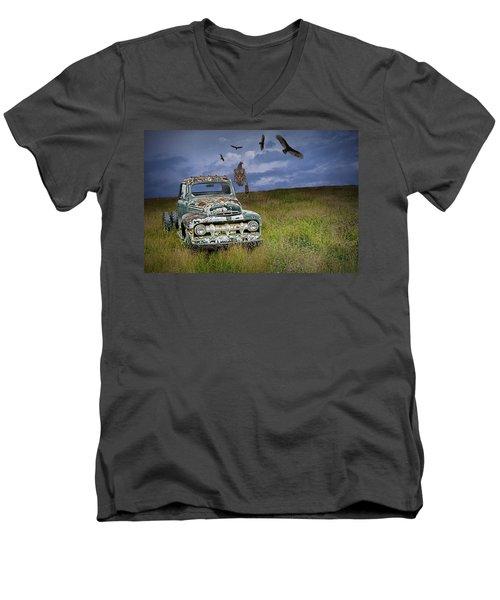 Vultures And The Abandoned Truck Men's V-Neck T-Shirt