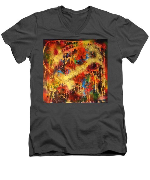Walk Through The Fire Men's V-Neck T-Shirt