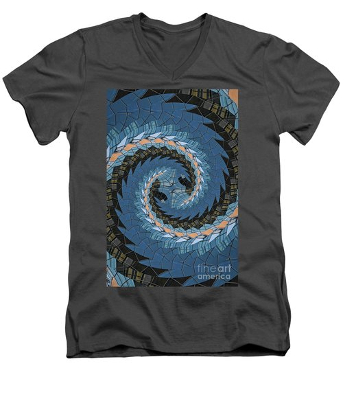 Men's V-Neck T-Shirt featuring the photograph Wave Mosaic. by Clare Bambers