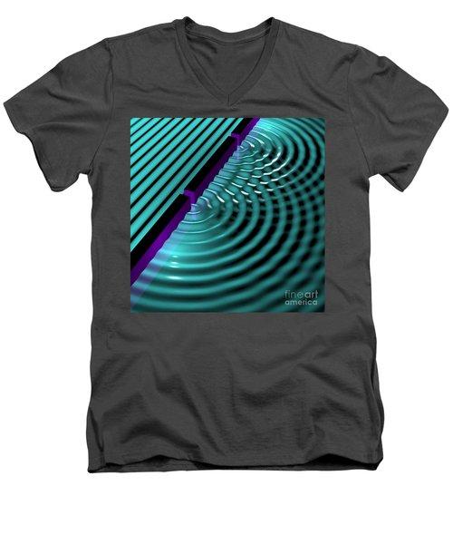 Waves Two Slit 3 Men's V-Neck T-Shirt