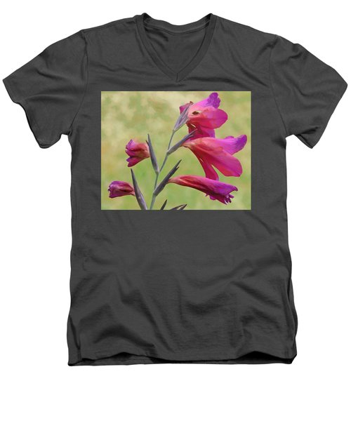 Men's V-Neck T-Shirt featuring the digital art Which Way Did The Sun Go by Steve Taylor