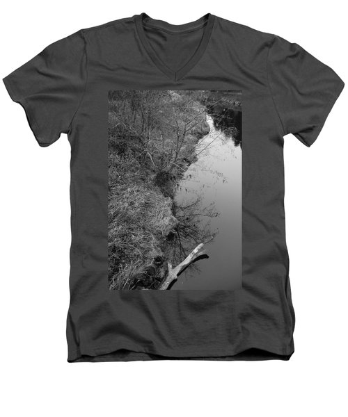 White Branch Riverside  Men's V-Neck T-Shirt