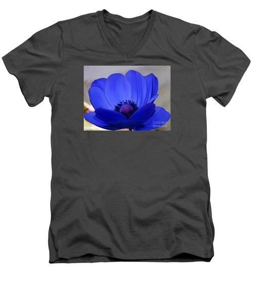 Windflower Men's V-Neck T-Shirt by Patricia Griffin Brett