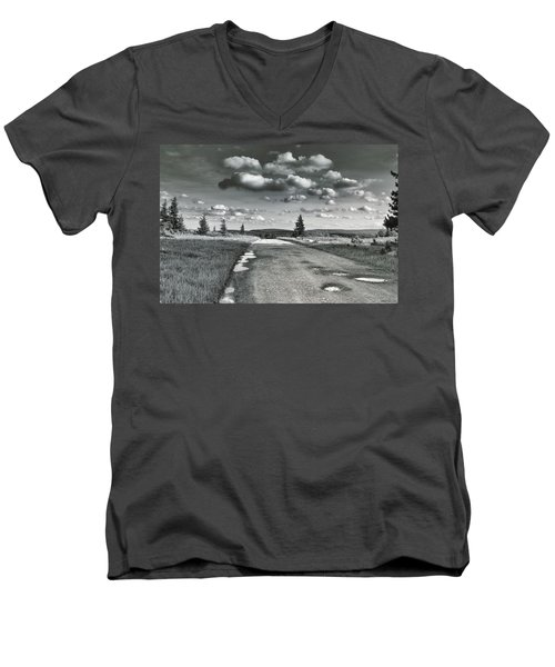 Men's V-Neck T-Shirt featuring the photograph Winding Road by Mary Almond
