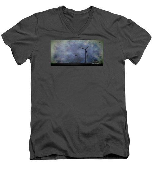 Windmills. Men's V-Neck T-Shirt