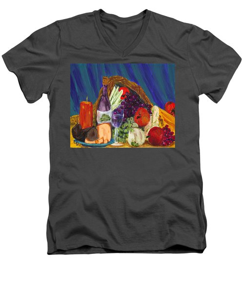 Wine Cornucopia Men's V-Neck T-Shirt