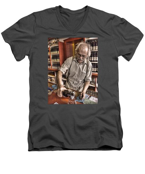 Men's V-Neck T-Shirt featuring the photograph Wine I Know Was Made To Drink by William Fields