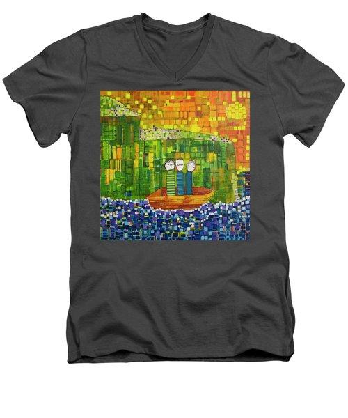 Wink Blink And Nod Men's V-Neck T-Shirt