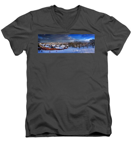Winter In Inverness Men's V-Neck T-Shirt