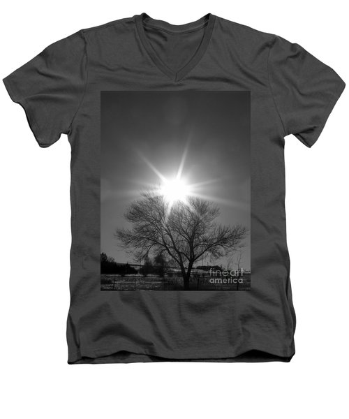 Winter Light Men's V-Neck T-Shirt