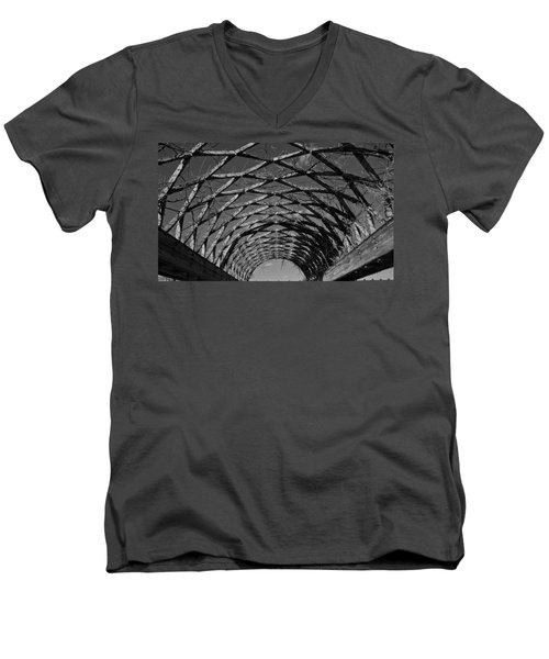 Winter Trellis Men's V-Neck T-Shirt