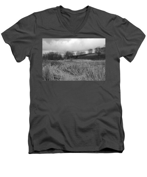 Men's V-Neck T-Shirt featuring the photograph Winters Breeze by Kathleen Grace