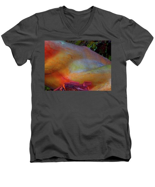 Men's V-Neck T-Shirt featuring the digital art Wonder by Richard Laeton