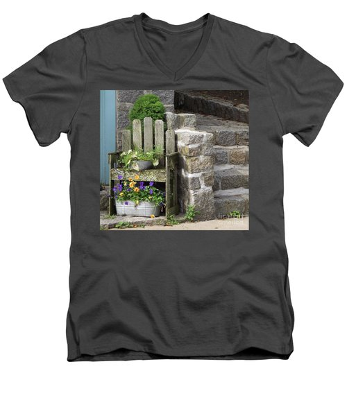 Wood And Granite Men's V-Neck T-Shirt