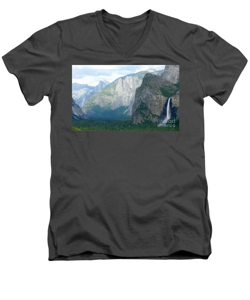 Yosemite Bridalveil Fall Men's V-Neck T-Shirt