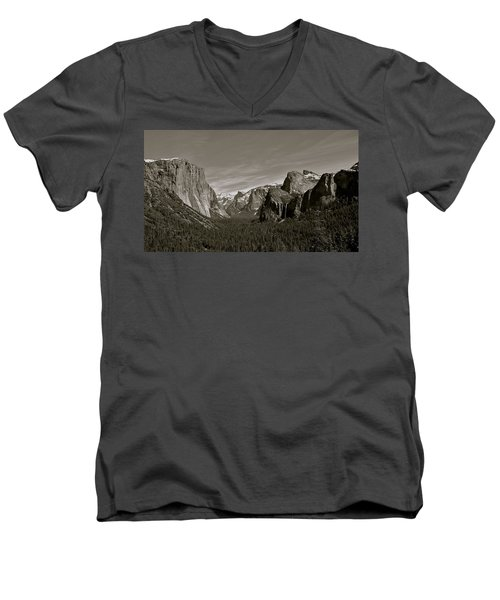 Men's V-Neck T-Shirt featuring the photograph Yosemite Valley by Eric Tressler