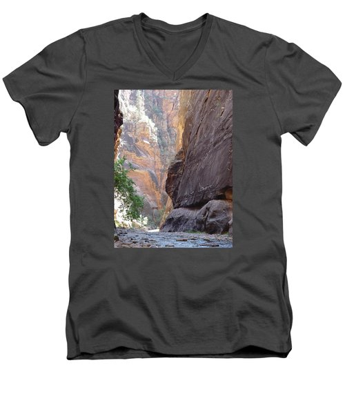 Zion Awe Men's V-Neck T-Shirt by Elizabeth Sullivan