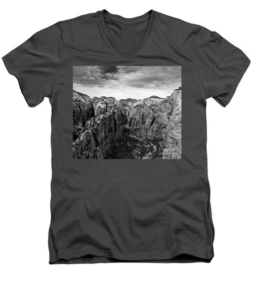 Zion National Park - View From Angels Landing Men's V-Neck T-Shirt