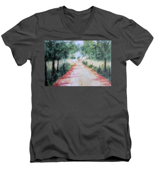 A Country Road Men's V-Neck T-Shirt