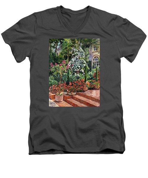 A Garden Approach Men's V-Neck T-Shirt by David Lloyd Glover