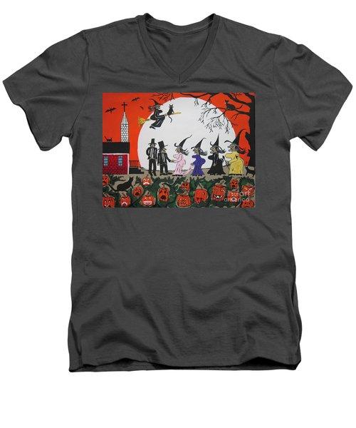 A Halloween Wedding Men's V-Neck T-Shirt by Jeffrey Koss