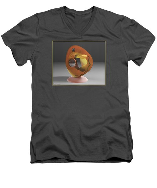 ' A Hollowed Orb_light On ' Men's V-Neck T-Shirt