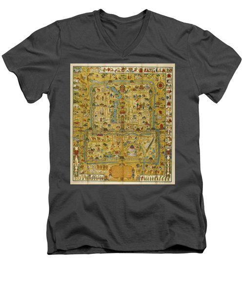 A Map And History Of Peiping Men's V-Neck T-Shirt