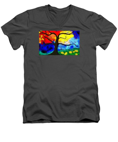 Before The Bloom Men's V-Neck T-Shirt by Patricia Arroyo