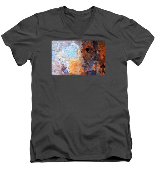 /boatyard Abstract 2 Men's V-Neck T-Shirt by Newel Hunter