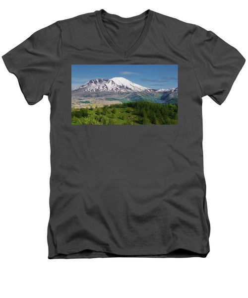 Castle Lake And Mt. St. Helens Men's V-Neck T-Shirt