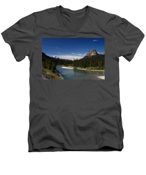 Castle Mountain 1 Men's V-Neck T-Shirt