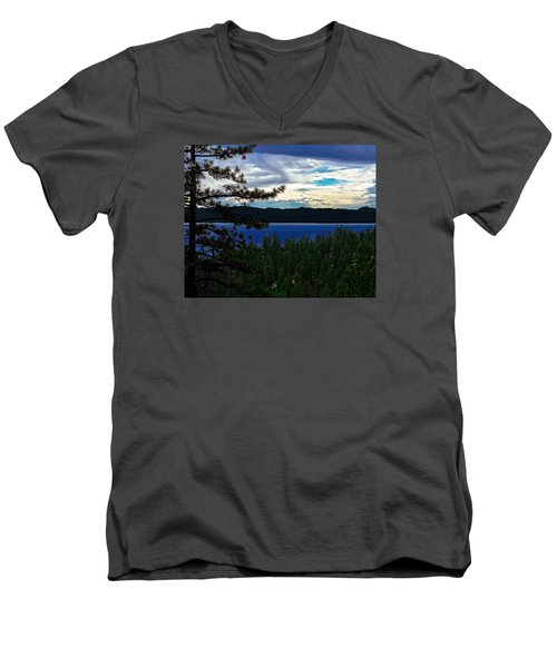 Chrystal Blue Waters Men's V-Neck T-Shirt