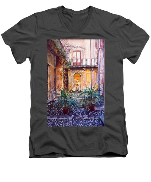 Courtyard Men's V-Neck T-Shirt
