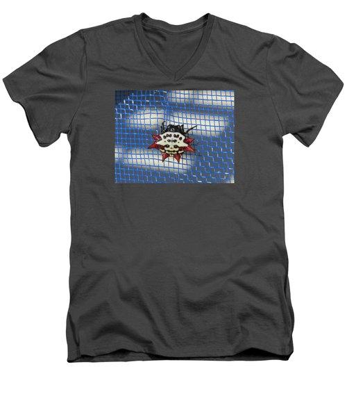 Crazy Crab Spider Men's V-Neck T-Shirt by Melinda Saminski