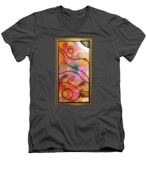 '' Days End - Setting Sun Over Mesasauga Canyon '' Men's V-Neck T-Shirt