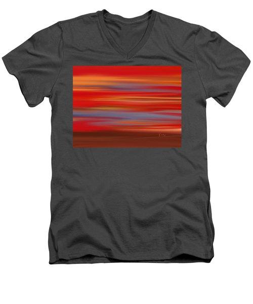 Evening In Ottawa Valley Men's V-Neck T-Shirt by Rabi Khan