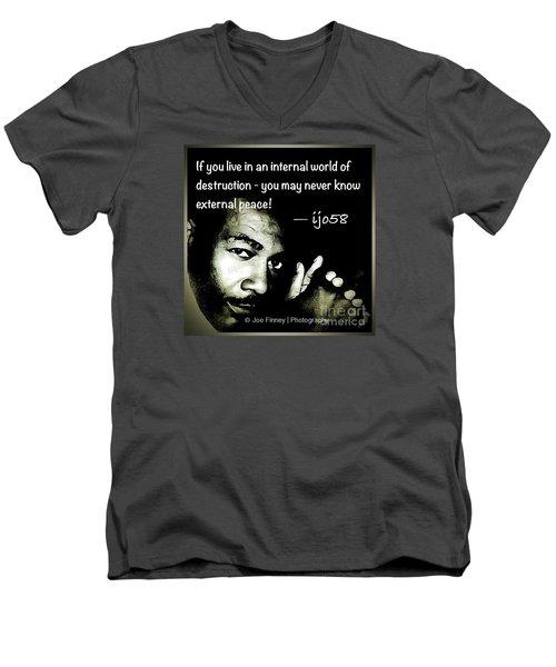 External Peace - No. 2015 Men's V-Neck T-Shirt
