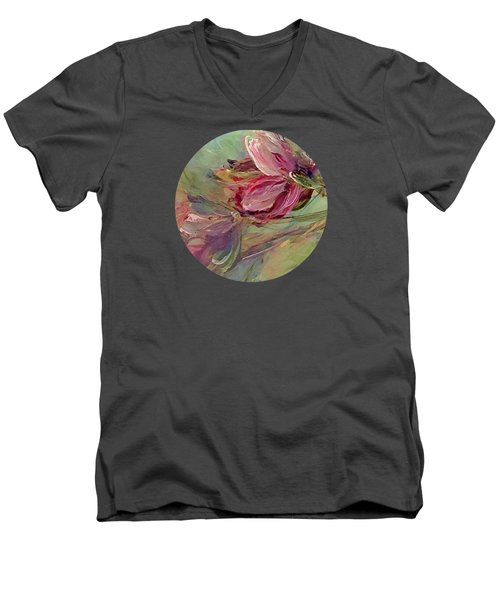 Flower Blossoms Men's V-Neck T-Shirt by Mary Wolf