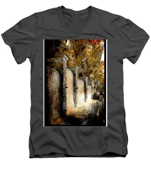 Flowing Waterfall  Men's V-Neck T-Shirt by Athala Carole Bruckner